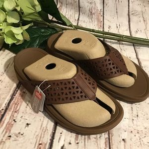 cfc6211bf9d18f Fitflop Shoes - Fitflop Leather Lattice Surfa Dark Tan Sandals